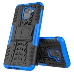 Чехол Yotrix Shockproof case для Samsung Galaxy J6 (синий, пластиковый)