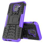 Чехол Yotrix Shockproof case для Samsung Galaxy J6 (фиолетовый, пластиковый)