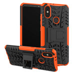 Чехол Yotrix Shockproof case для Xiaomi Mi A2 (оранжевый, пластиковый)