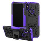 Чехол Yotrix Shockproof case для Xiaomi Mi A2 (фиолетовый, пластиковый)