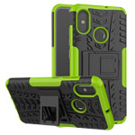 Чехол Yotrix Shockproof case для Xiaomi Mi 8 (зеленый, пластиковый)