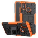 Чехол Yotrix Shockproof case для Xiaomi Mi 8 (оранжевый, пластиковый)