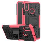 Чехол Yotrix Shockproof case для Xiaomi Mi 8 (розовый, пластиковый)