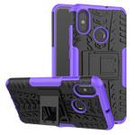 Чехол Yotrix Shockproof case для Xiaomi Mi 8 (фиолетовый, пластиковый)