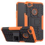 Чехол Yotrix Shockproof case для OPPO F7 (оранжевый, пластиковый)