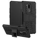 Чехол Yotrix Shockproof case для LG G7 ThinQ (черный, пластиковый)
