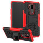 Чехол Yotrix Shockproof case для LG G7 ThinQ (красный, пластиковый)