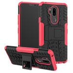 Чехол Yotrix Shockproof case для LG G7 ThinQ (розовый, пластиковый)