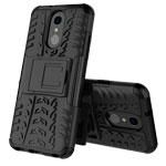 Чехол Yotrix Shockproof case для LG Q7 (черный, пластиковый)