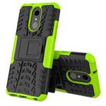 Чехол Yotrix Shockproof case для LG Q7 (зеленый, пластиковый)