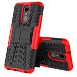 Чехол Yotrix Shockproof case для LG Q7 (красный, пластиковый)
