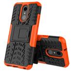 Чехол Yotrix Shockproof case для LG Q7 (оранжевый, пластиковый)