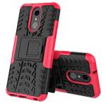 Чехол Yotrix Shockproof case для LG Q7 (розовый, пластиковый)