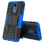 Чехол Yotrix Shockproof case для LG Q7 (синий, пластиковый)