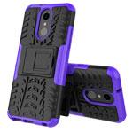 Чехол Yotrix Shockproof case для LG Q7 (фиолетовый, пластиковый)