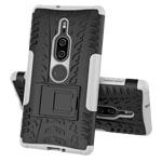 Чехол Yotrix Shockproof case для Sony Xperia XZ2 premium (белый, пластиковый)