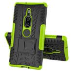 Чехол Yotrix Shockproof case для Sony Xperia XZ2 premium (зеленый, пластиковый)