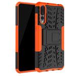 Чехол Yotrix Shockproof case для Huawei P20 pro (оранжевый, пластиковый)