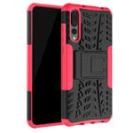 Чехол Yotrix Shockproof case для Huawei P20 pro (розовый, пластиковый)