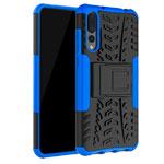 Чехол Yotrix Shockproof case для Huawei P20 pro (синий, пластиковый)