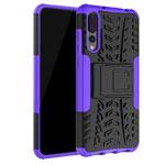 Чехол Yotrix Shockproof case для Huawei P20 pro (фиолетовый, пластиковый)