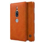 Чехол Nillkin Qin leather case для Sony Xperia XZ2 premium (коричневый, кожаный)