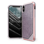 Чехол X-doria Defense Lux для Apple iPhone X (Rose Gold, маталлический)