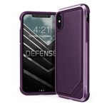 Чехол X-doria Defense Lux для Apple iPhone X (Purple Nylon, маталлический)