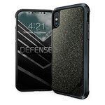 Чехол X-doria Defense Lux для Apple iPhone X (Crystal Black, маталлический)