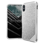 Чехол X-doria Defense Lux для Apple iPhone X (Crystal Sliver, маталлический)