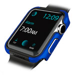 Чехол X-doria Defense Edge для Apple Watch Series 2 (42 мм, синий, маталлический)