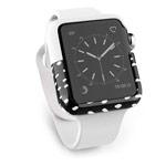 Чехол X-doria Revel Case для Apple Watch Series 2 (38 мм, бело-черный, пластиковый)