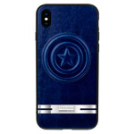 Чехол Marvel Avengers Leather case для Apple iPhone X (Captain America, кожаный)