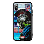 Чехол Marvel Avengers Hard case для Apple iPhone X (Hulk vs Thor, пластиковый)