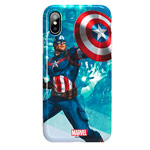 Чехол Marvel Avengers Hard 3D case для Apple iPhone X (Captain America, пластиковый)