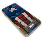 Чехол Marvel Avengers Hard case для Apple iPhone 8 (Captain America, пластиковый)