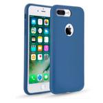 Чехол Seedoo Delight case для Apple iPhone 8 plus (синий, силиконовый)