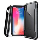 Чехол X-doria Defense Shield для Apple iPhone XS (черный, маталлический)