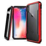 Чехол X-doria Defense Shield для Apple iPhone XS (красный, маталлический)