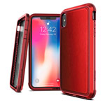 Чехол X-doria Defense Lux для Apple iPhone XS (Red Leather, маталлический)