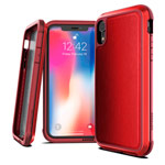 Чехол X-doria Defense Lux для Apple iPhone XR (Red Leather, маталлический)