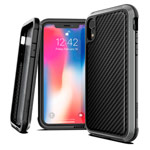 Чехол X-doria Defense Lux для Apple iPhone XR (Black Carbon, маталлический)