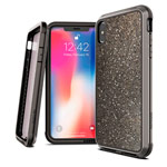 Чехол X-doria Defense Lux для Apple iPhone XS max (Crystal Black, маталлический)