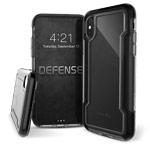 Чехол X-doria Defense Clear для Apple iPhone XS max (черный, пластиковый)