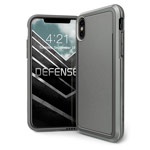 Чехол X-doria Defense Ultra для Apple iPhone X (серый, маталлический)