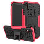 Чехол Yotrix Shockproof case для Apple iPhone XR (розовый, пластиковый)