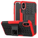 Чехол Yotrix Shockproof case для Apple iPhone XS max (красный, пластиковый)