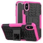 Чехол Yotrix Shockproof case для Apple iPhone XS max (розовый, пластиковый)