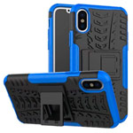 Чехол Yotrix Shockproof case для Apple iPhone XS max (синий, пластиковый)