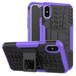 Чехол Yotrix Shockproof case для Apple iPhone XS max (фиолетовый, пластиковый)